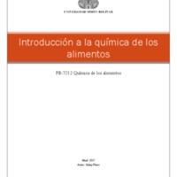 Introducción a la química de los alimentos